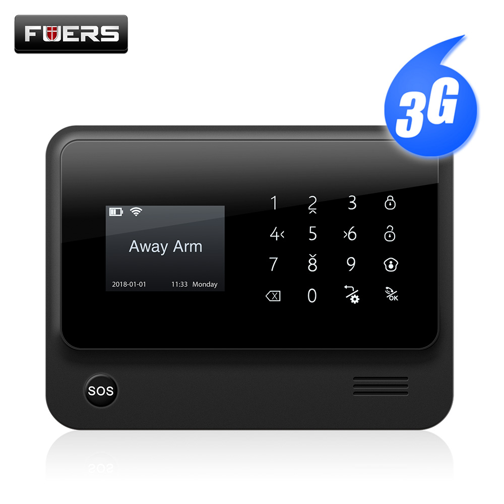 Fuers 2019 Upgrade 9 Languages Switch G90B Plus+ 3G WiFi GSM Wireless Home Security Alarm System IOS Android APP Control Panel