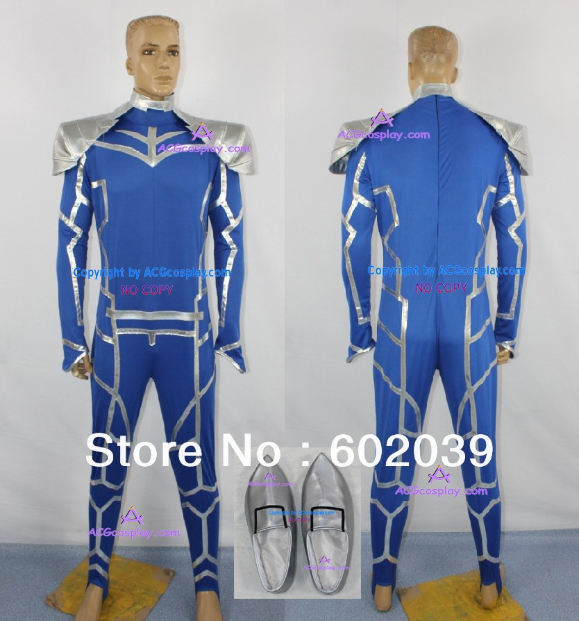 Fate Stay Night Lancer Cosplay Costume jump suit include shoes accessory