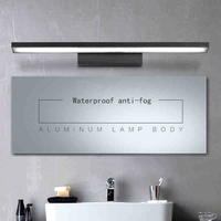 New Design PMMA Stainless Steel Wall Light 85 265V 5W 500mm Acrylic LED Mirror Lights Bathroom