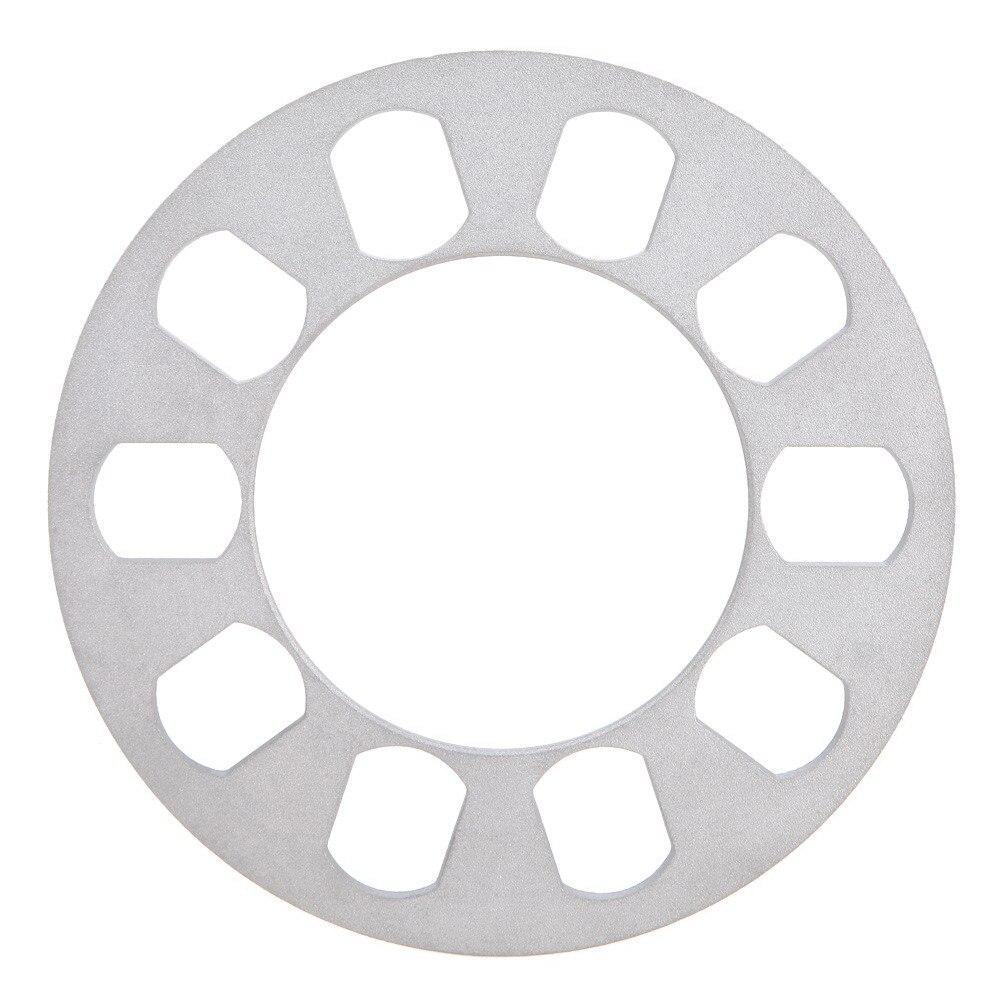 1 UNIDS Silverr Auto Aluminum Alloy Wheel Spacer Junta 5 agujero 8mm Neumáticos