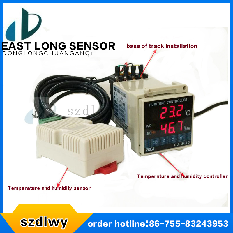 Guide rail type temperature and humidity controller DL-3048 sw tdk 0302 temperature and humidity controller