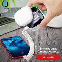 Asometech chargeur rapide QC 3.0 Powerbank pour iphone type c micro usb pd mini batterie externe câble à ressort réglable pour huawei xiaomi