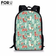 FORUDESIGNS Printing of Animal School Bag for Girls Boys 16 inch Customize Image Backpack Kids Children Bookbag Student Mochila