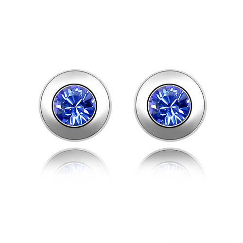Austrian Crystal from Austrian White Gold Color Brand Stud earrings for women Fashion New Sale Hot 11 Colors #82336