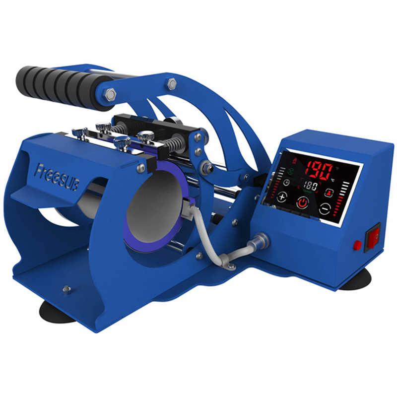 NOVA Tela de Toque LCD Máquina Da Imprensa Da Caneca Máquina de Impressão de Impressora de Sublimação Máquina Da Imprensa do Calor Caneca Copo Azul Prata Preto Vermelho