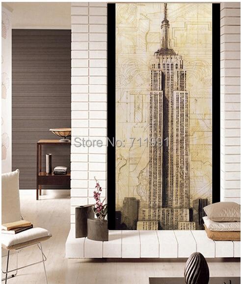 Papel de parede customization retro wallpaper New York skyscraper building for the living room bedroom wall vinyl wallpaper