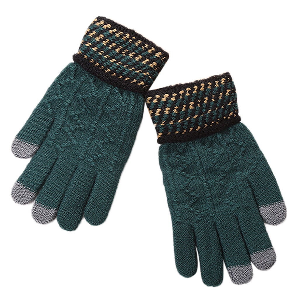 Winter Gloves Handschoenen Women Men  Couple Riding Screen Winter Gloves Soft Warm Mitten перчатки перчатки женские Guantes