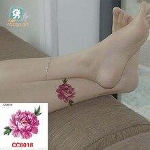 Mini Body Art Waterproof Temporary Tattoos For Women Sexy Flower Design Flash Tattoo Sticker CC6018