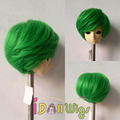 Synthetic doll wig green shot boy style bjd wigs 1/3 1/4 for choice