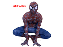 New Spiderman Costume 3D Printed Kids Adult Lycra Spandex Spider-man For Halloween Spider Man 3 Raimi Cosplay Suit