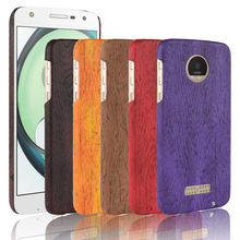 For Motorola MOTO Z Play XT1635-03 Case Hard PC+PU Leather Retro wood grain Phone Case For MOTO Z Play Cover Wood Case 5.5'' цена