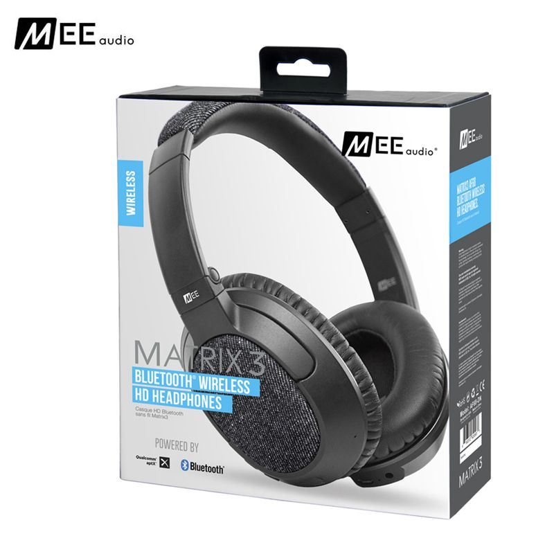 Original MEE Audio MATRIX3 AF68 Over-ear Wireless Bluetooth Headset With Mic For Android IOS Phones HD HIFI Music Headphone 24 hours ship mee audio matrix3 af68 stereo wireless bluetooth headphone with mic noise cancelling over ear headset for iphone 8