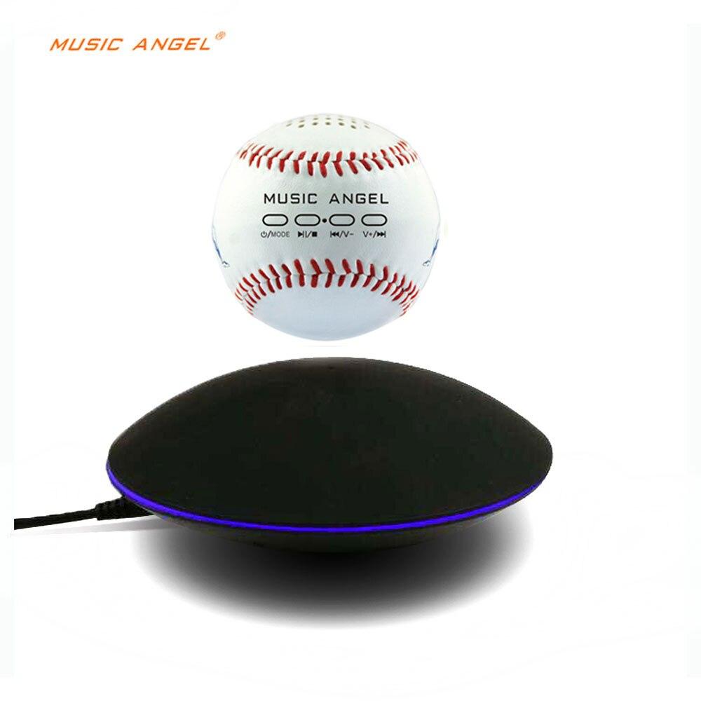 все цены на Levitating Bluetooth Speaker - Floating Wireless Speaker - SciFi Baseball Speaker music angel support SD card download онлайн