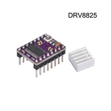 3D Printer Parts StepStick DRV8825 Stepper Motor Driver With Heat sink Carrier Reprap 4-layer PCB RAMPS replace A4988 Driver(China)