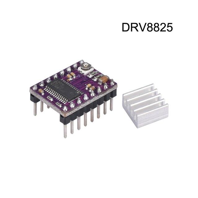 Peças de Impressora 3D DRV8825 StepStick Stepper Motor Driver Com dissipador de Calor Transportadora 4-camada PCB Reprap RAMPAS substituir A4988 motorista