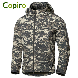 Copiro Executive Men's Outdoor Tactical Military Waterproof Softshell Jacket Hiking Clothes Windproof Fishing Clothing