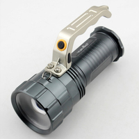 Portable High power Zoom Searchlight Xm l2 Led Long range Portable Aluminum Alloy Flashlight Rechargeable Outdoor Miner's Lamp