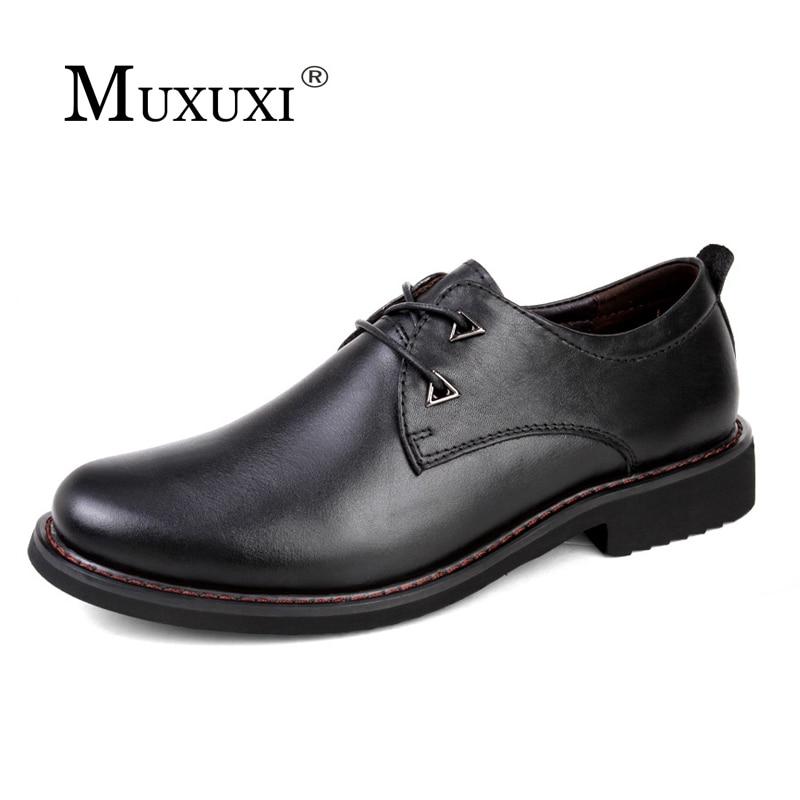 Merek Buatan Tangan kulit alami Sepatu kasual Pria nyaman Sepatu fashion Klasik Oxford Sepatu formal plus ukuran 38-47