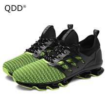 Run Your Own Shoes No Following! New Men Running Shoes, Bow-Blade Wearable Sole Athletic Sports Shoes, Cushioning Running Shoes