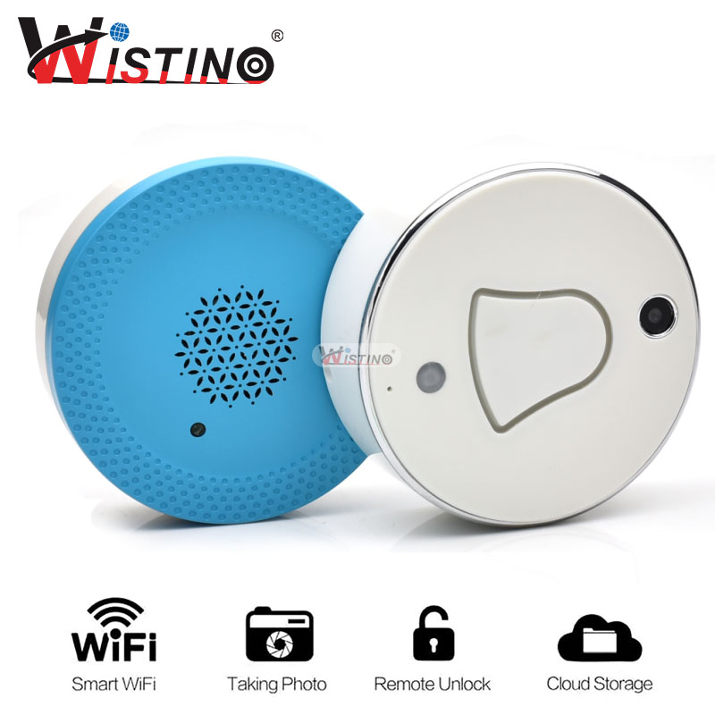 Wistino Smart Wifi Video Intercom Door Bells Doorbells Plug-in Type Wireless Doorbell Waterproof DoorBell Kits EUplug Outdoor door bell with 36 chimes single receiver waterproof plug in type wireless doorbell cordless smart door bells doorbells