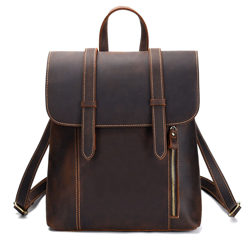 Vintage Women Genuine Leather Backpack Mens Cowhide Leather Backpacks Bag Large School Bag Laptop BagVintage Women Genuine Leather Backpack Mens Cowhide Leather Backpacks Bag Large School Bag Laptop Bag