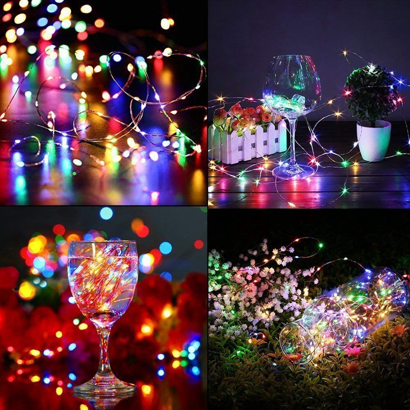 Fairy Lights Battery Operated 100LED String Lights Remote Control Timer Twinkle String Lights 8 Modes 16.4 Feet Firefly Lights 6