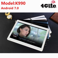 2019 K990 Octa Core 10.1 Inch tablet MTK8752 Android Tablet 4GB RAM 64GB ROM Dual SIM Bluetooth GPS Android 7.0 10 Tablet PC