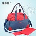 Nuevas bolsas de pañales multifuncional bolso de la madre maternidad momia bolsas de pañales de alta calidad estilo de la flor del bolso de mamá bebé cochecito bag65z