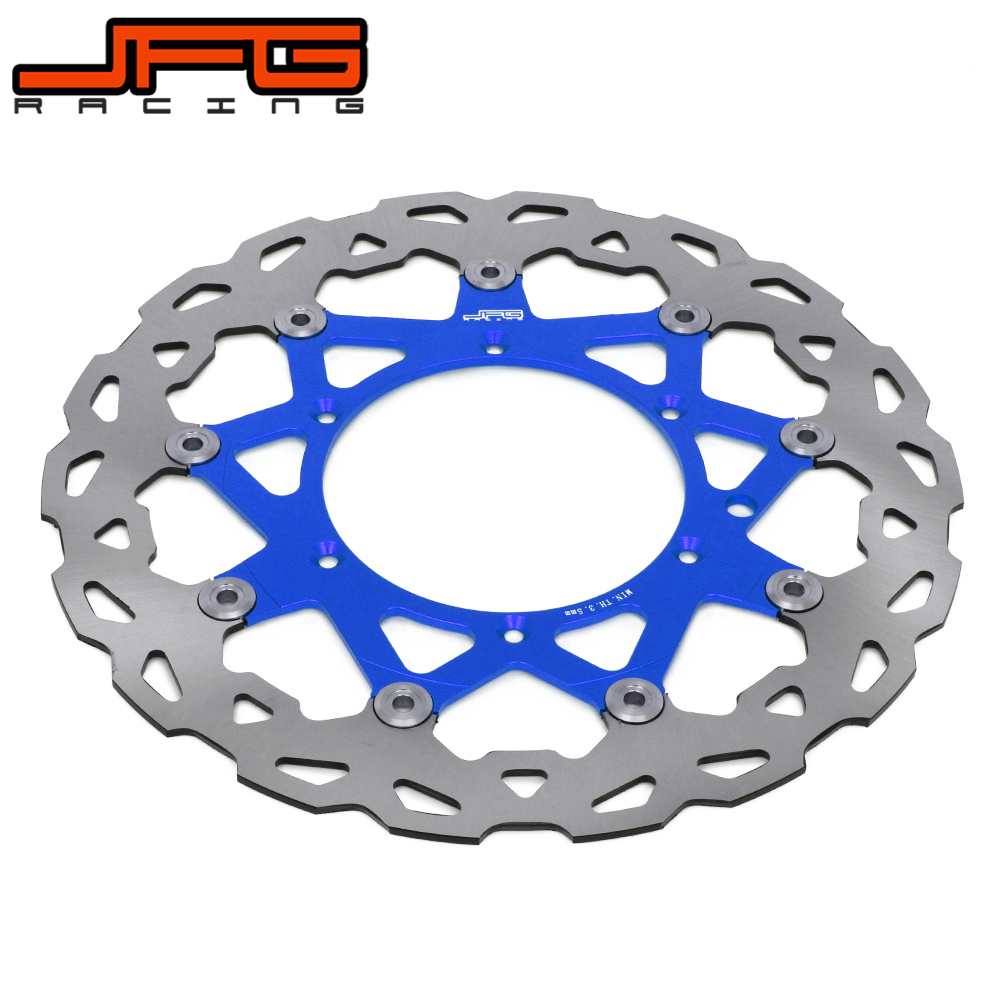 320MM Front Floating Brake Disc Rotor For YAMAHA WR WRF YZ YZF WR250 YZ250 YZ250F YZ450F WR250F WR450F Supermoto motorcycle x brake front brake disc cover for yamaha yz250f yz450f 2007 2013 blue