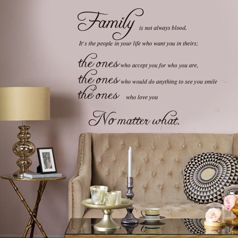 Maaryee Pvc New Family Is Not Always Blood Wall Stickers Home