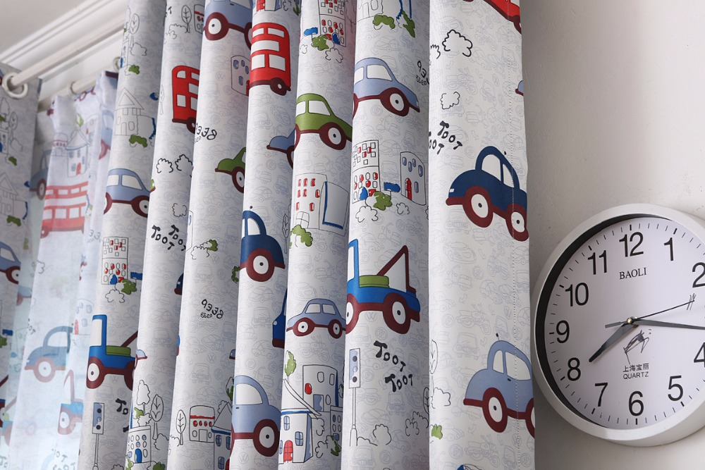 Aliexpress.com : Buy Cartoon Toy Cars Curtains For Kids Room Baby Bos  Bedroom Printed Fabric Tulle Sheer Curtain Voile Liner Window Custom Size  Panel From ...