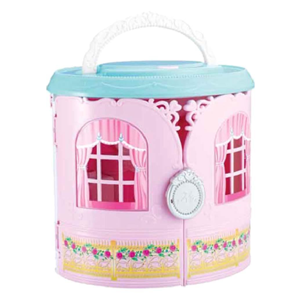 Maison de poupée Mini princesse château bâtiments Miniature maison de poupée avec des meubles semblant jouer jeu de rôle jouets cadeau pour les filles