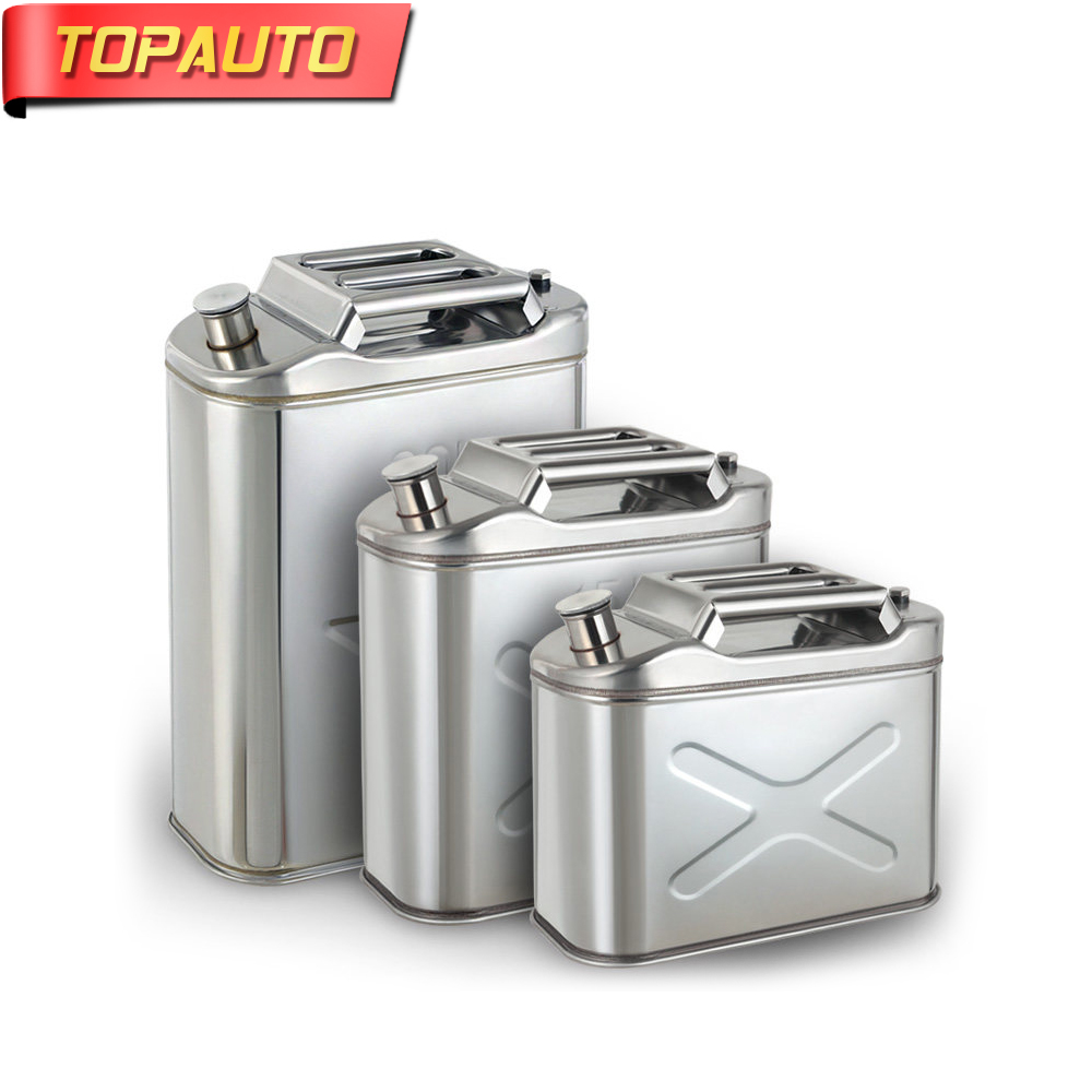 Topauto 10l 201 Stainless Steel Tank Metal Fuel Tank Oil