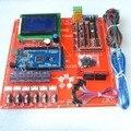 Reprap Rampas 1.4 Kit Com Mega 2560 r3 + mk2b Heatbed + 12864 Controlador de LCD + DRV8825 + interruptor Mecânico + cabos