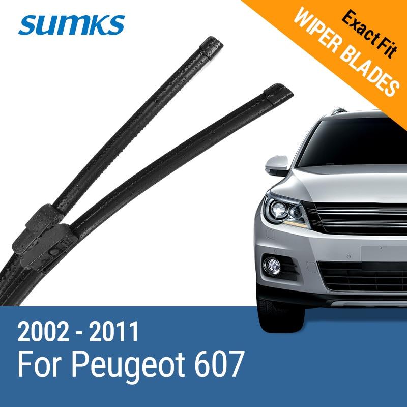 SUMKS Wischerblätter für Peugeot 607 26