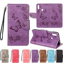 Redmi Hinweis 7 Flip Telefon Fall für Funda Xiaomi Redmi Hinweis 7 Fall Schmetterling Leder Abdeckung für Xiaomi Redmi Nicht 7 Pro Fällen Capa