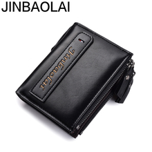 JINBAOLAI 2018 New Design Wallet Purse Wallets for Men with Coin Pocket Mens ID Card Holder Purses Small
