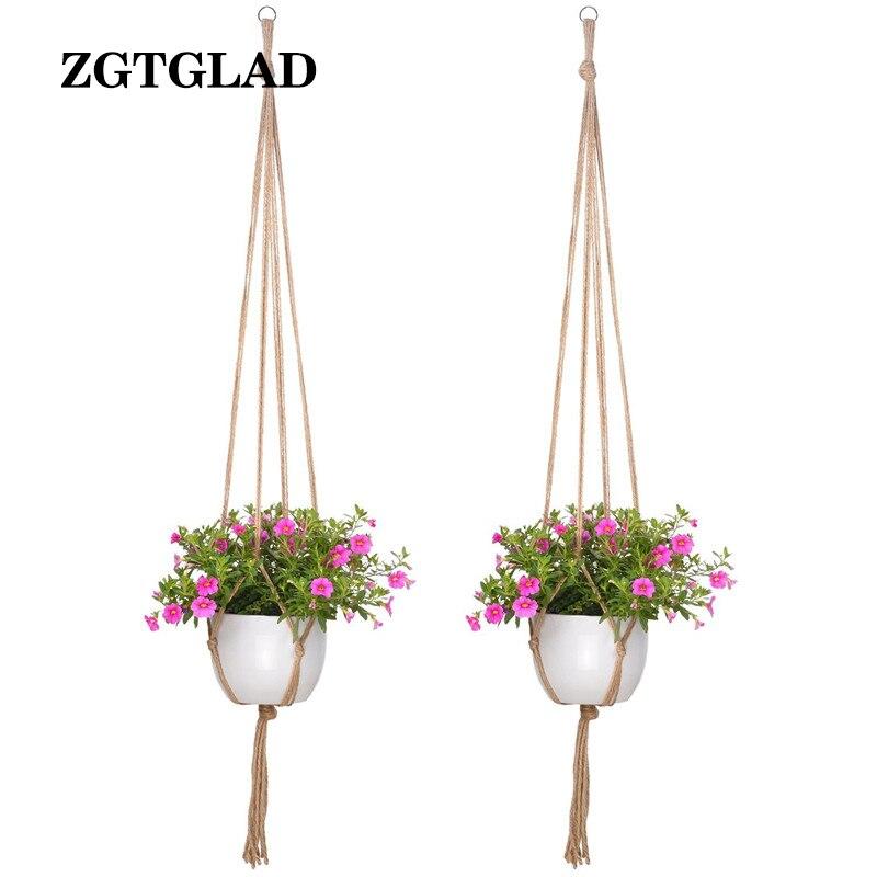 unids macrame suspensin de la planta de interior al aire libre colgando maceta cesta cestas