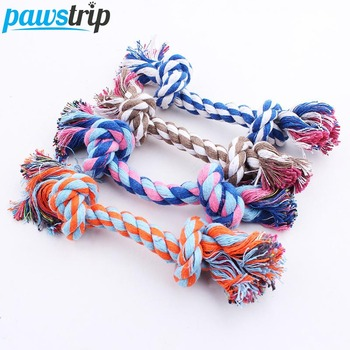 1pc Pet Dog Toy Rope Double Knot Cotton Braided Dog Rope Toy Puppy Chew Toy Cleaning Tooth Toys For dogs pet supplies petshop pet dogs rubber rod feed toy dog chew toy for dog tooth clean rod of extra tough rubber puppy toy biting resistance pet supplies