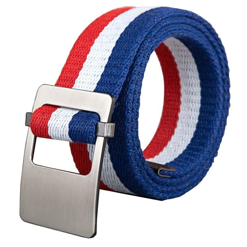 2018 joven raya colorida serie cinturón correas de Nylon elástico cinturones tácticos estilo enérgico aleación hebilla hombres joven deporte