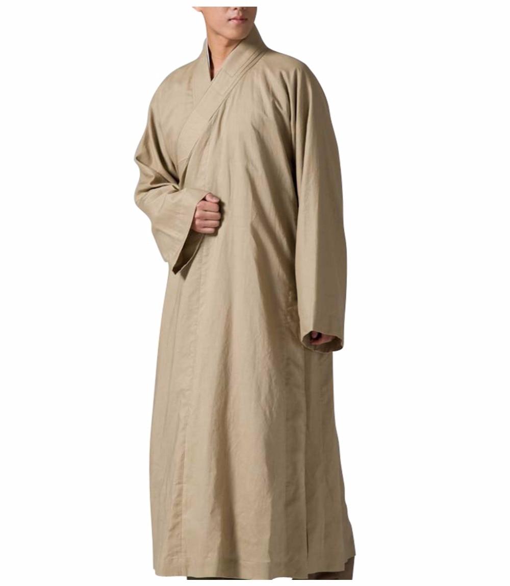 ZanYing Buddhist Monk Robe Meditatie Religie Jurk Linen Flax - Traditionele kleding