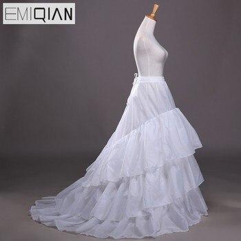ad0d30424 JaneVini blanco negro sirena Underskirt Crinoline enaguas tul mujeres  vestido de boda accesorios ...