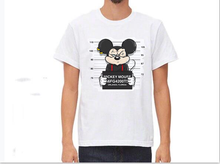2019 new mickey print tees mouse t-shirt men tops hip hop casual funny dog cartoon tshirt homme comfort cotton t shirt F02(China)