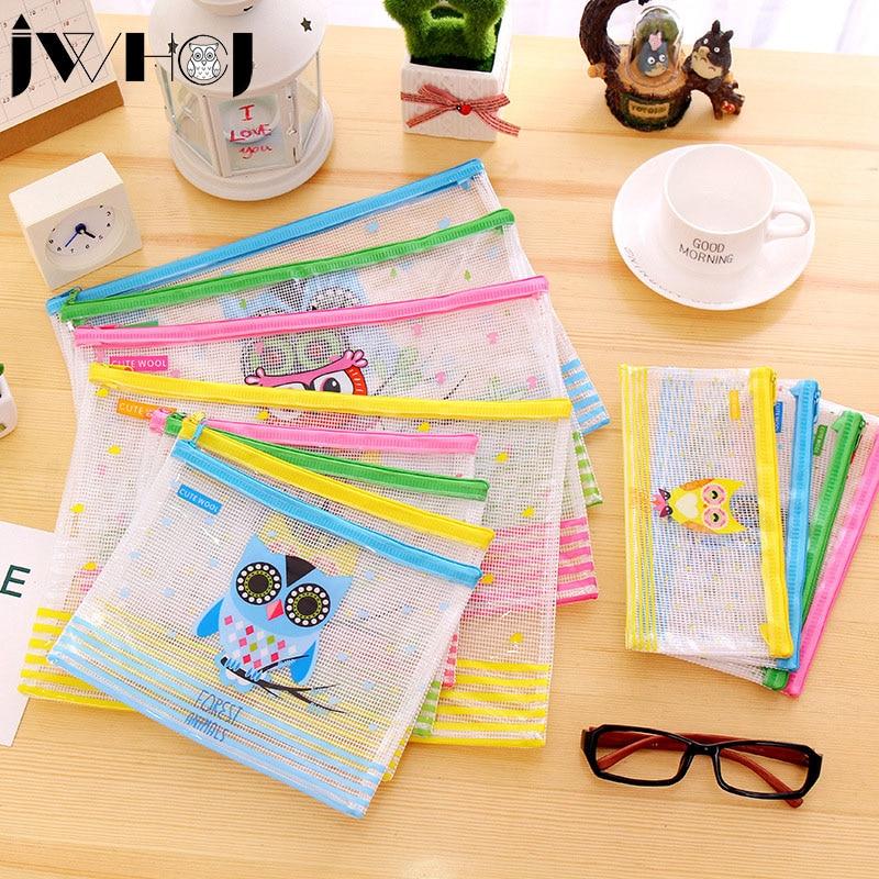 1 Pcs Cute Owl Multifunction PVC Waterproof Zipper Bag Document Envelope Data Bag  School Supplies Kawaii Stationery