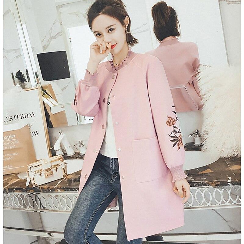 Nuevas Vestir yellow pink white Tweed 2018 Femenina Delgada Lana Otoño  Madre Mezclas Exteriores Elegante Larga Moda Abrigo Mujeres De Prendas ... 0dcd1642d03f