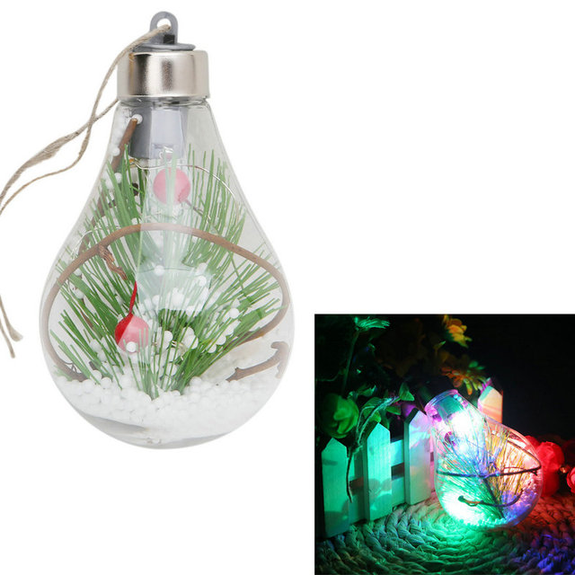 led bulb light christmas tree hanging ball ornament xmas garden home decor craft