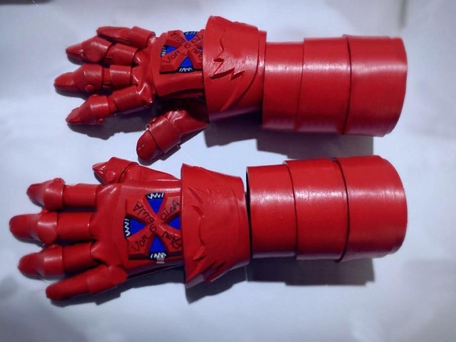 Hitman Reborn Katekyo Metal Finger Rotating Armor Vongola Cosplay Ring Red