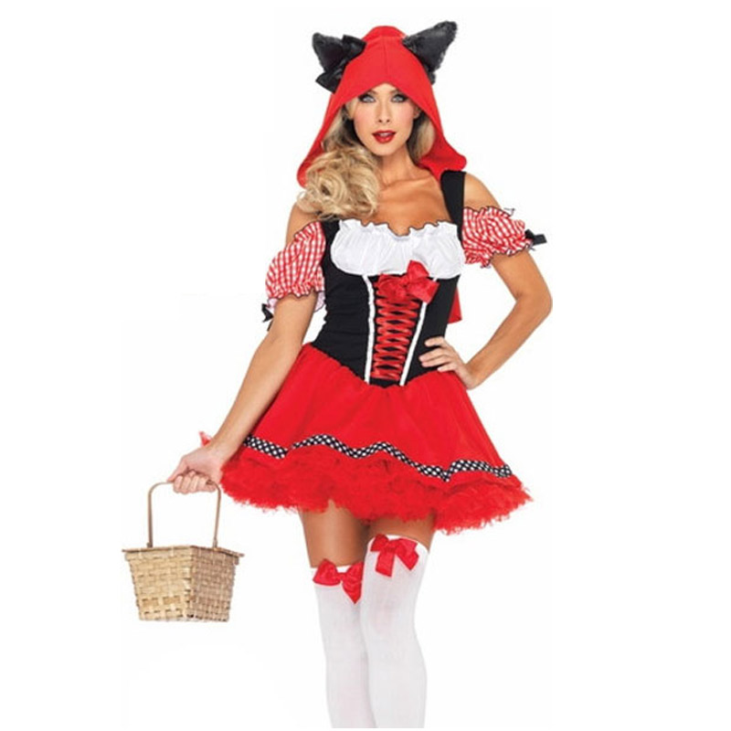 FGirl Cosplay Costume Sexy Halloween Costumes for Women One Size The Sexy  Red Riding Wolf Womens - Online Get Cheap Wolf Halloween Costumes For Women -Aliexpress.com