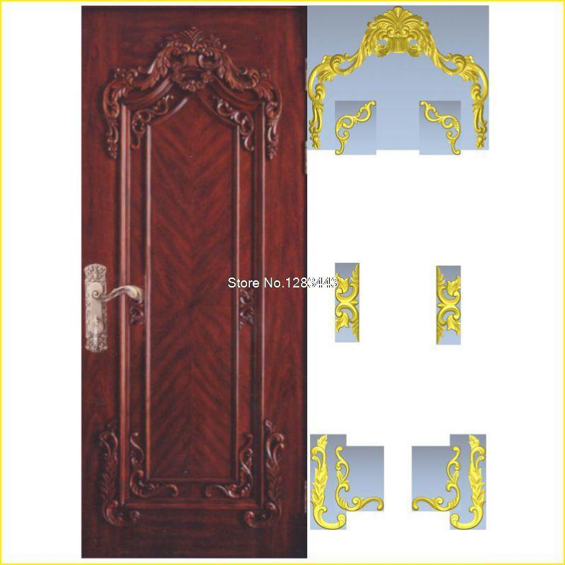 7pcs/lot Door_7 3D Model STL relief for cnc STL format Furniture 3D STL format furniture decoration 3d model relief for cnc in stl file format animals and birds 2