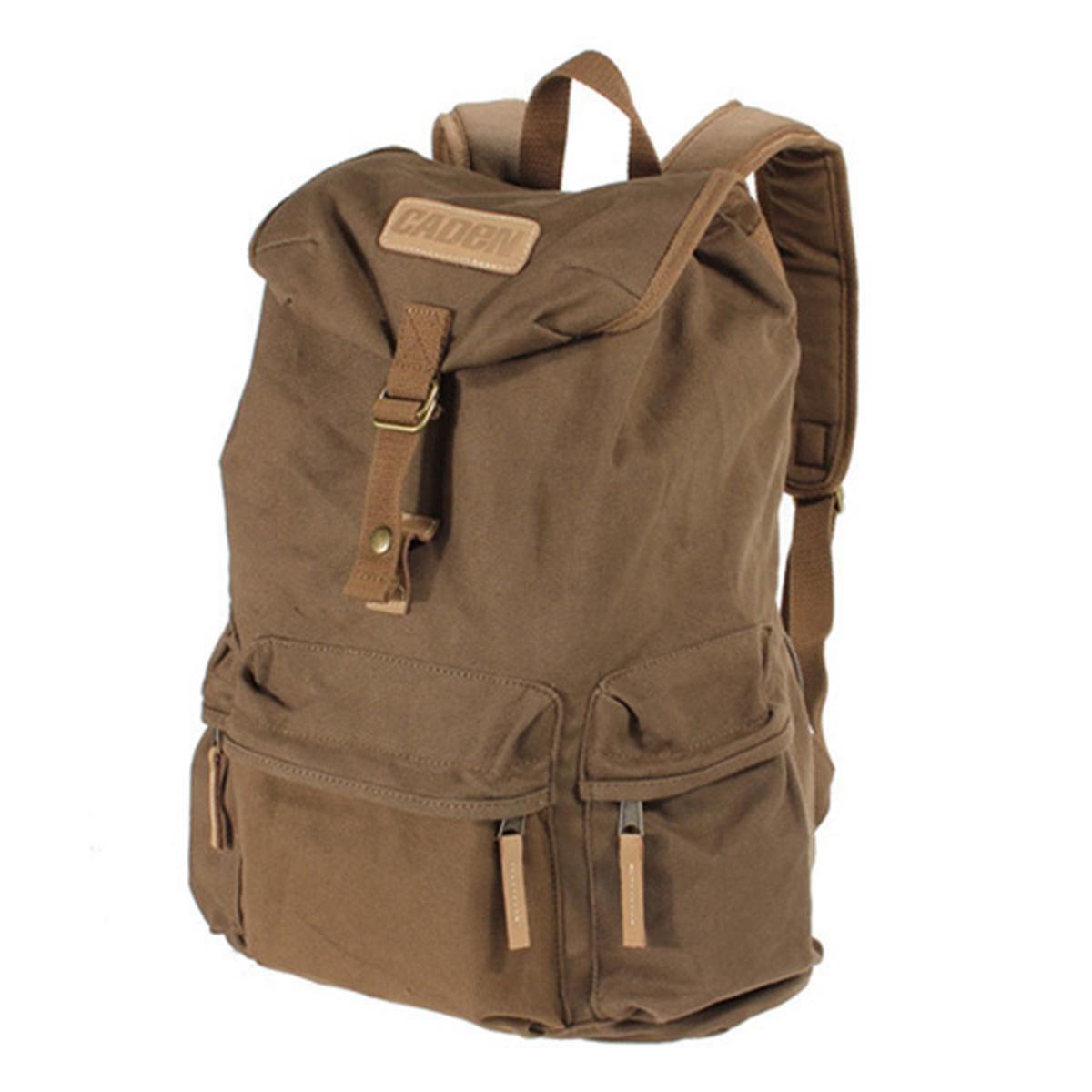 лучшая цена CADEN Canvas Vintage Waterproof double shoulder Shoulder Camera Bag for Canon/Nikon